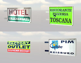 Advertising ad signs 3D asset