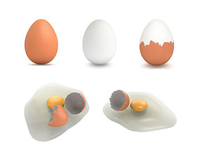 uncooked Egg Collection - 5 Models