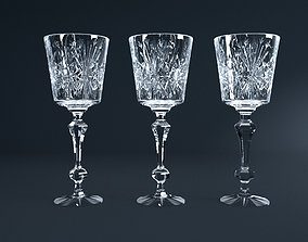 3D wine Crystal Glass