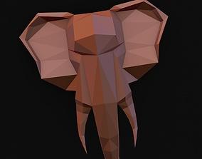 3D print model the head of an elephant