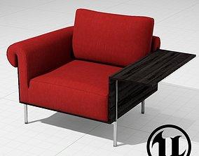 3D model MolteniC Controra Armchair UE4