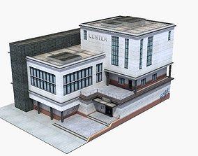 Modern School Building 3D