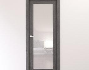3D model Stylish satin glass door