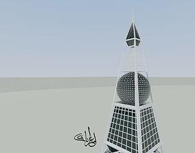 3D architecture Al-Faisaliyah Tower of Riyadh