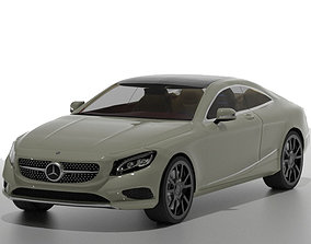 animated Mercedes-Benz S Class Coupe 3d car