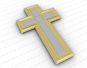 Cross 3D cross ornament