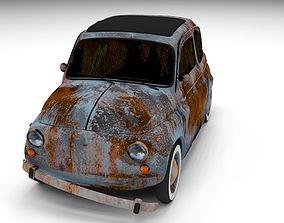 Rusty FIat 500 Nuova 3D model