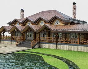 3D asset Chalet House