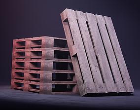 3D model Industrial Wooden Pallet