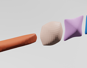 Low polly pillow 3D model low-poly