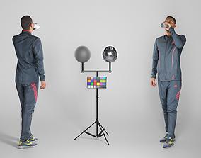 Man in sportswear drinking water 213 3D asset