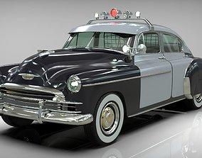 Classic police car 1949 fleetline 3D