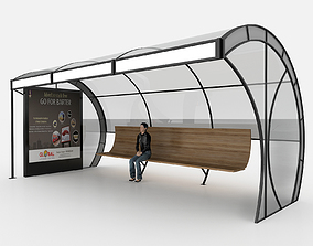 3D model BUS STATION 4