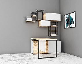 3D office workstation design or office table