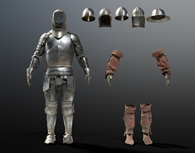 3D PBR SOLDIER Medieval Knight