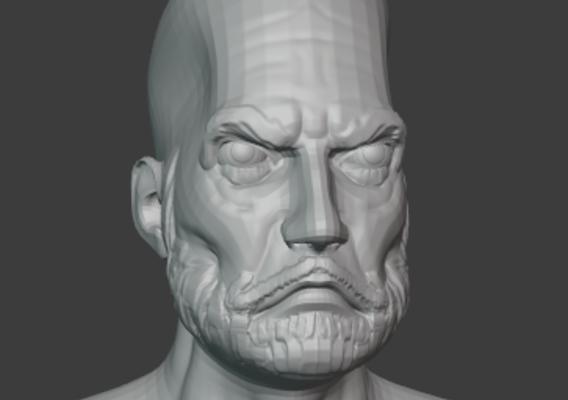 Old Man Head