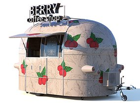 Mobile coffee shop 3D