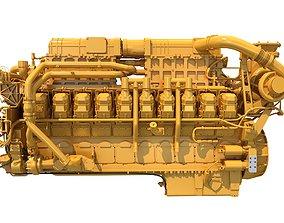 3D model 20 Cylinders Engine