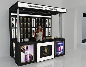 PERFUME STAND SHOP 3D model