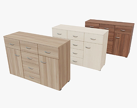 Commode 3D model low-poly