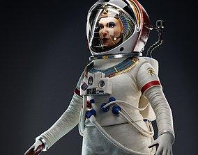 Female Pharaoh Astronaut - Female Character Design 3D