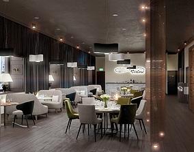 Business Restaurant moden style 3D model