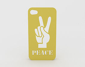 Peace Hand Iphone Case 4 4s 3D printable model