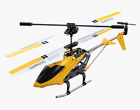 3D model PBR Mini remote-controlled helicopter