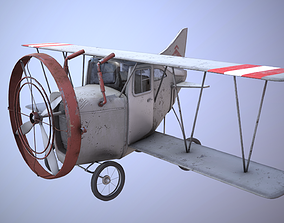 3D asset realtime Cartoon Airplane
