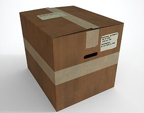 3D asset low-poly Cardboard Box