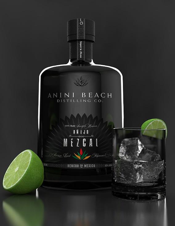 Fictional Mezcal Bottle