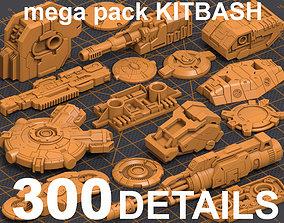 3D Mega Pack Kitbash 300 DETAILS