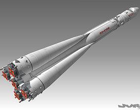 Vostok 1 Space Rocket 3D model