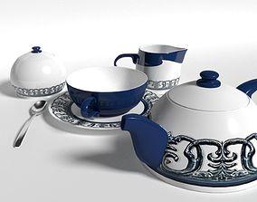 Tea set 3D asset