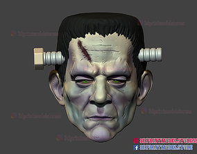 Frankenstein Cosplay Mask - Monster 3D printable model 1