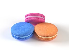 Macarons 3D model