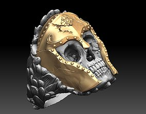 3D printable model skull ring hades