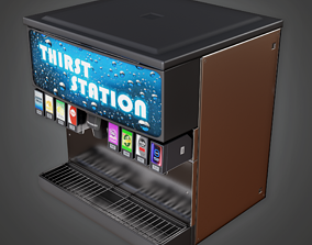 3D asset Soda Machine 01 - SAM - PBR Game Ready