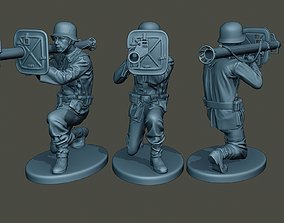 German soldier ww2 Shoot crouched G4 3D printable model