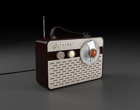 3D model Vintage Transistor Radio