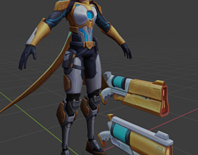 League Of Legends - Pulsfire Lucian and Prestige 3D model