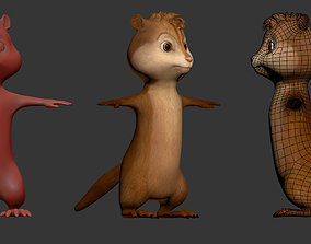 Alvin Chipmunks 3D asset