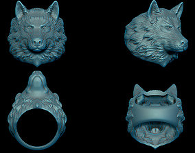 3D print model Wolf ring arctic