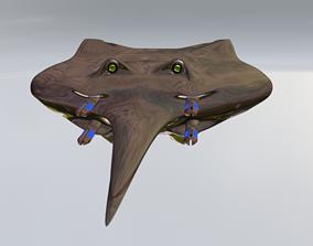3D asset Sci-fi Drone