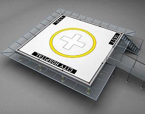 3D model Helipad squared