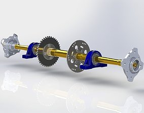 ATV four wheel drive motorcycles Axle 3D