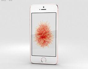 3D Apple iPhone SE Rose Gold smartphone