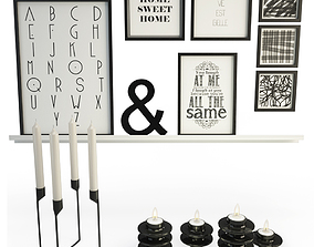 3D Black Decoration With Heima Candles