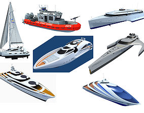 3D Yachts and Boats Models