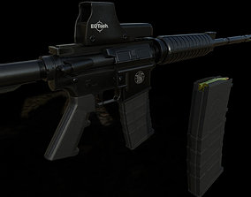 low-poly Game model M4A1